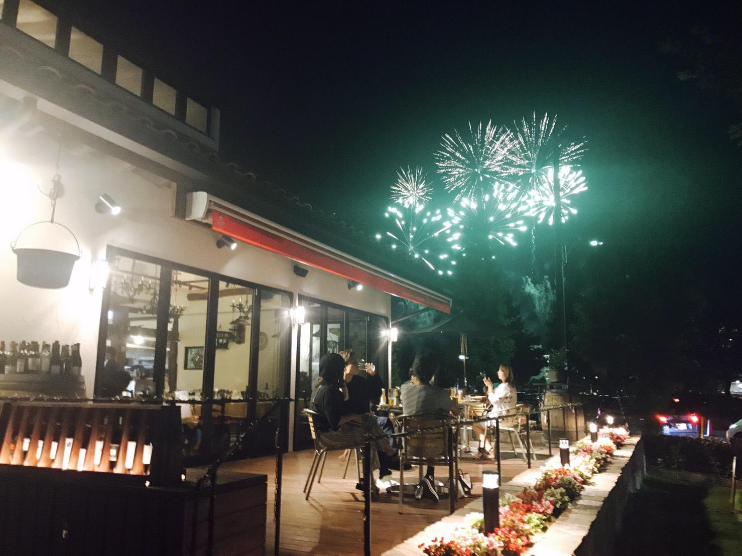 冠水公園の花火!