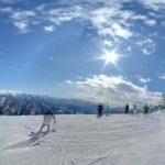 岩原 今日の岩原スキー場山頂