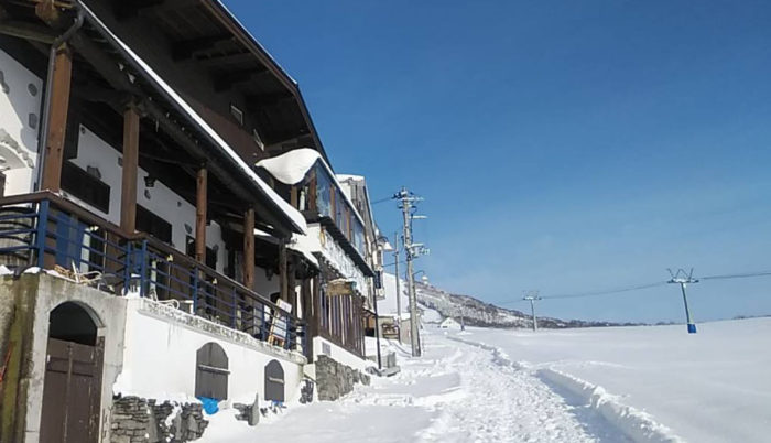 ピットーレ岩原本店 クリスマスコース2日目快晴です。