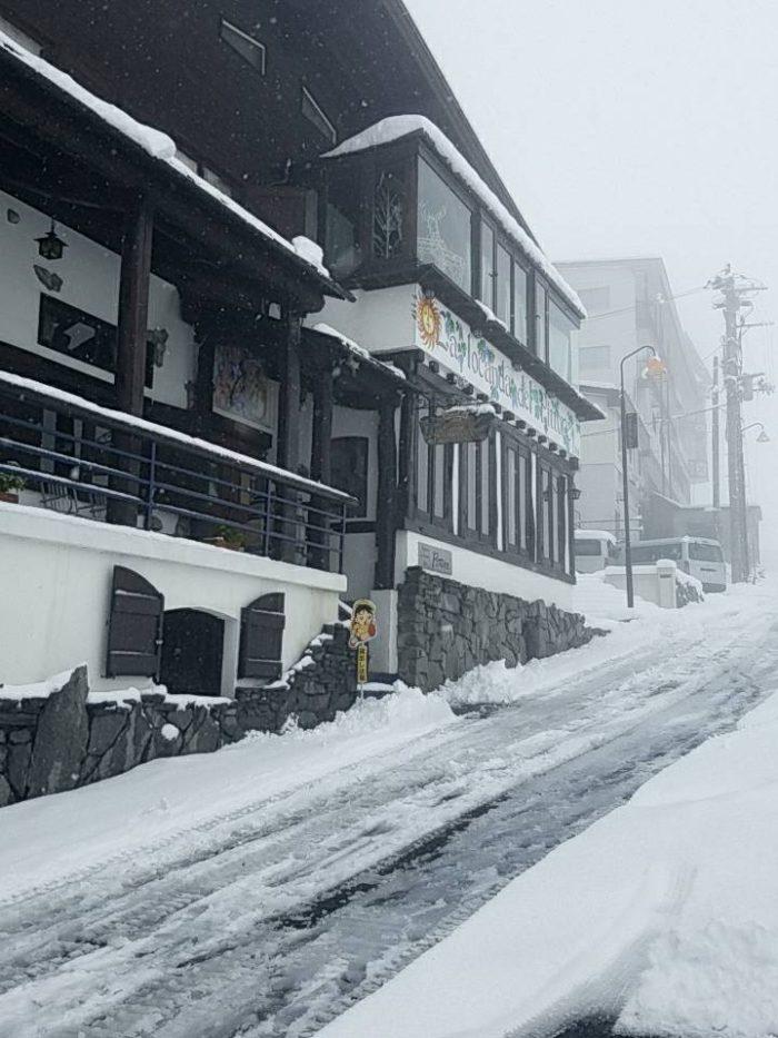 ピットーレ岩原本店 本日は雪です!通行止めです。