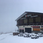 湯沢高原アルピナ 真冬のような寒さです。